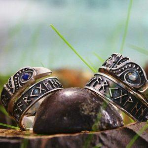 Hand-made Viking Wedding Rings Pair