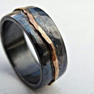 Hammered-Gold-Viking-Wedding-Ring-with-Organic-Wave-600x457-1