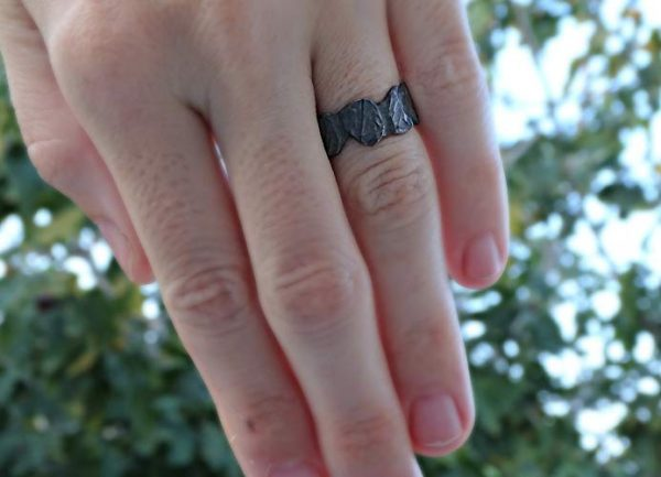 Wedding Ring Which Hand.Hand Forged Rustic Norse Ring For Men