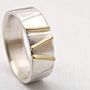 Silver-and-14K-Gold-Geometric-Pattern-Viking-Wedding-Ring1-600x450-1
