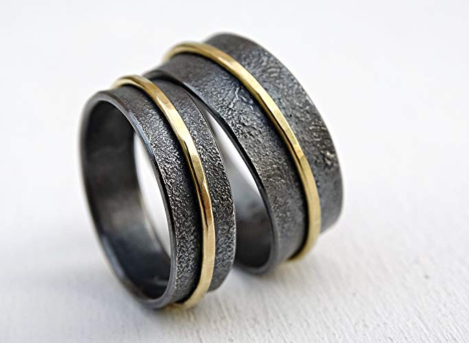 Unique Gold And Silver Viking Ring Set Viking Front