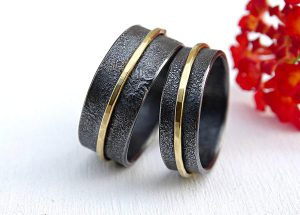 Unique-Gold-and-Silver-Viking-Wedding-Ring-Set3-600x430-1