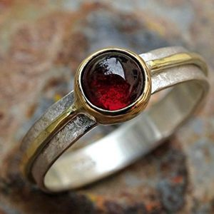 Viking-Garnet-Engagement-and-Wedding-Ring