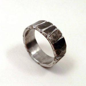 Men's Ancient Oxidized Viking Wedding Ring