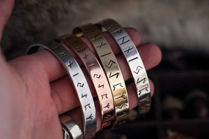 norse rune bracelet for men women by the wicked griffin
