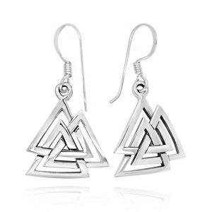 valknut norse runes dangle earrings