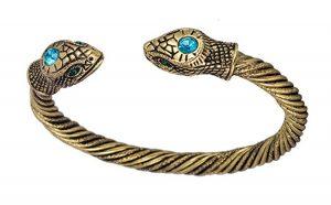 viking snake serpent cuff bracelet for men and women by dawapara