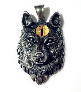 wolf head necklace pendant by loyeh