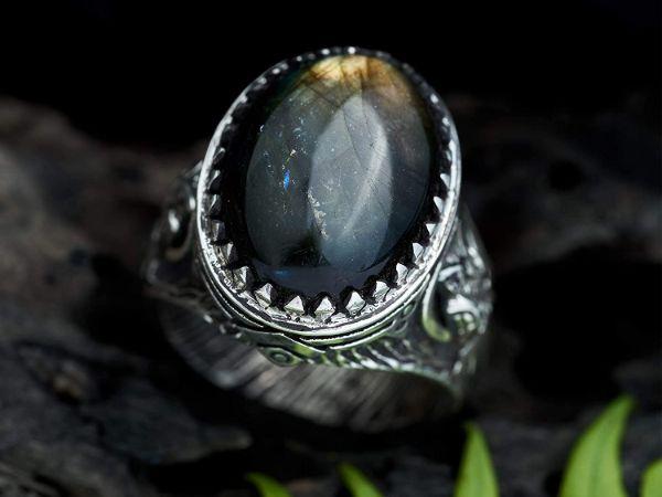 labradorite ring sterling silver ring
