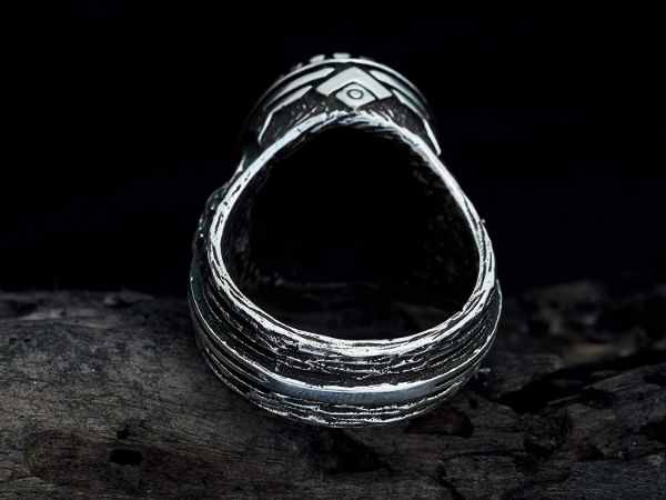 mens ring owl labradorite ring sterling silver ring animal ring viking ring mens jewelry owl ring gifts for men owl jewelry 2