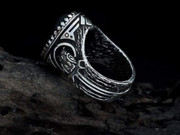 mens ring owl labradorite ring sterling silver ring animal ring viking ring mens jewelry owl ring gifts for men owl jewelry 3