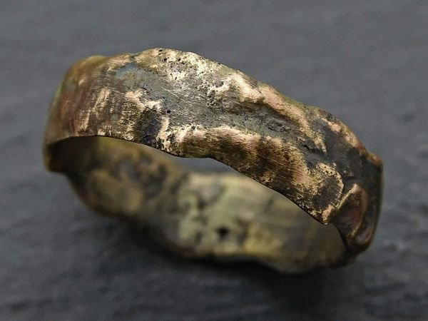 rustic gold ring mens wedding ring rose gold engagement ring1