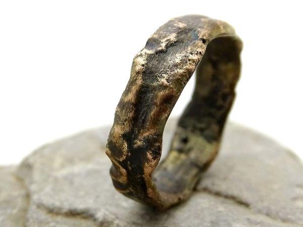 rustic gold ring mens wedding ring rose gold engagement ring2