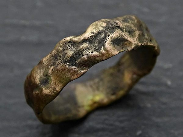 Rustic gold engagement ring