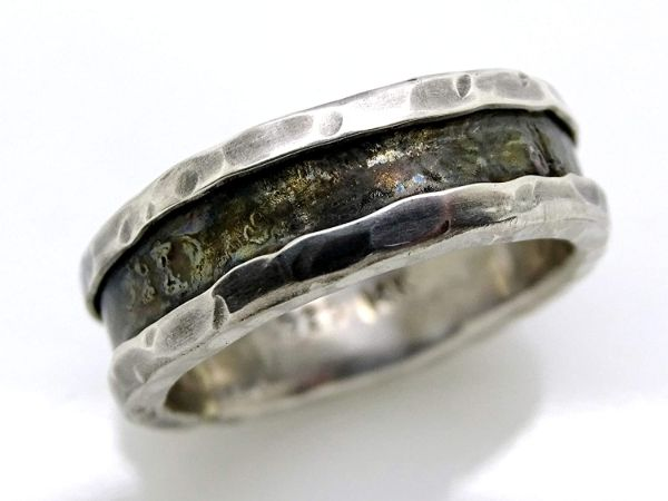 viking wedding band white gold mens wedding band