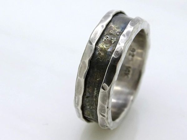 viking wedding band white gold mens wedding band2