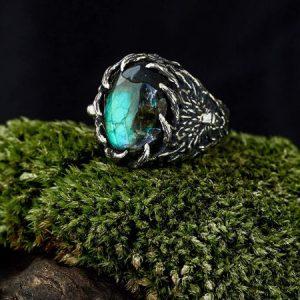 wolf ring Mens viking jewelry