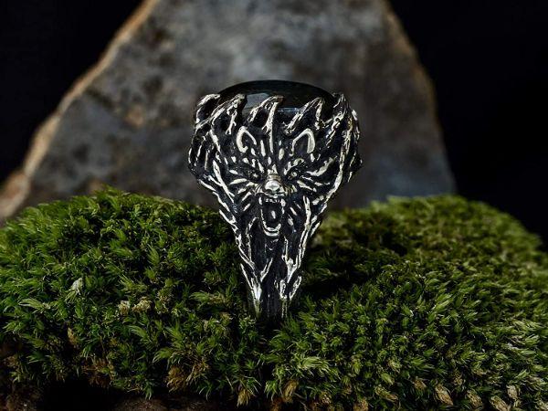 wolf ring wolf animal ring labradorite ring viking jewelry mens jewelry gifts for men mens rings labradorite jewelry1