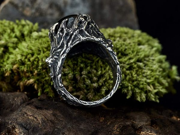 wolf ring wolf animal ring labradorite ring viking jewelry mens jewelry gifts for men mens rings labradorite jewelry2