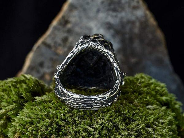 wolf ring wolf animal ring labradorite ring viking jewelry mens jewelry gifts for men mens rings labradorite jewelry3